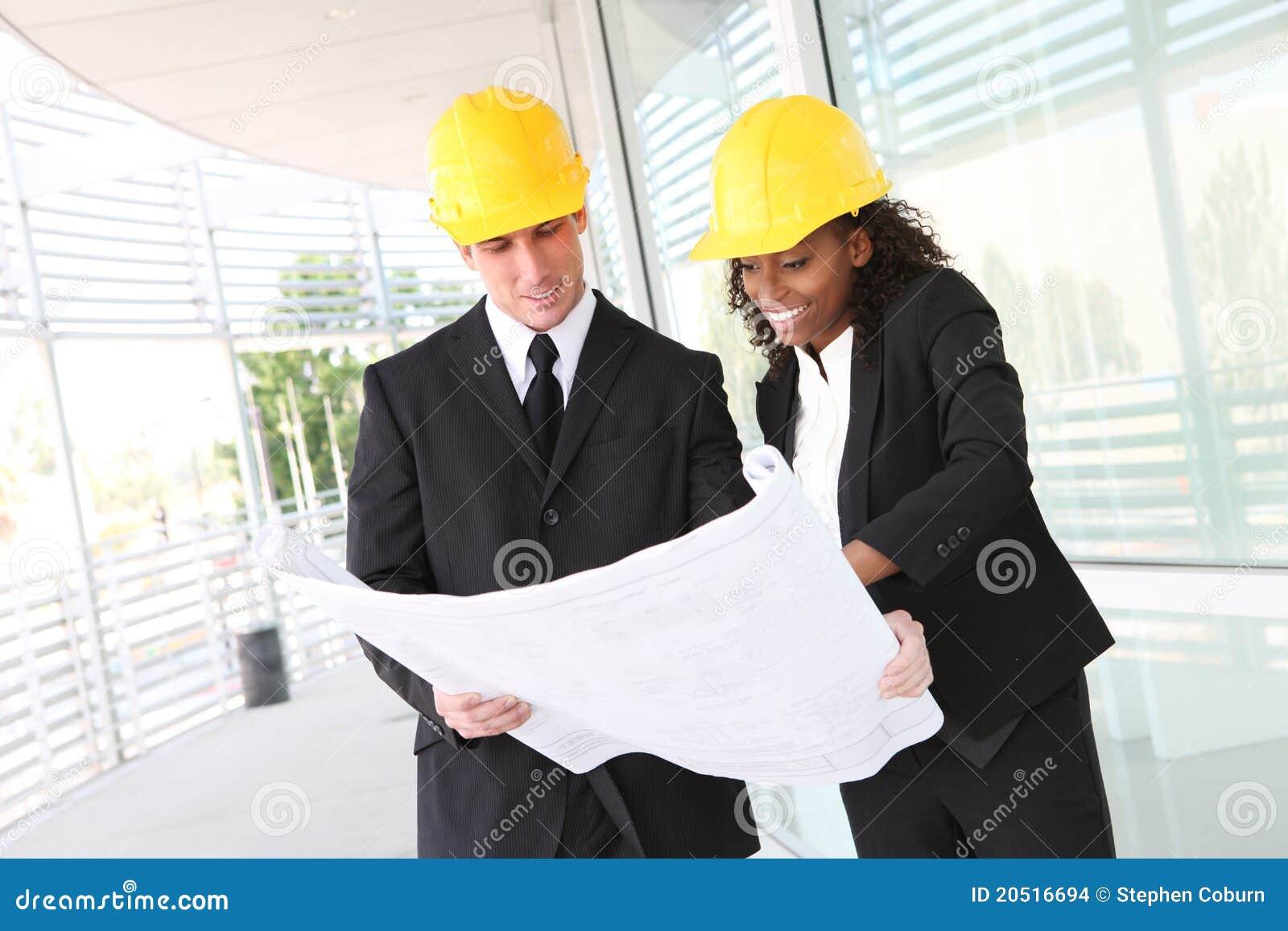 Het diverse Team Bedrijfs van de Bouw