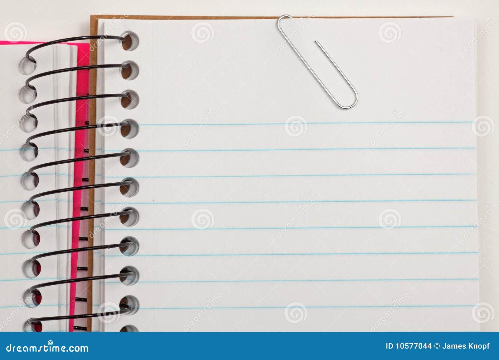 Het document en de klem van de nota