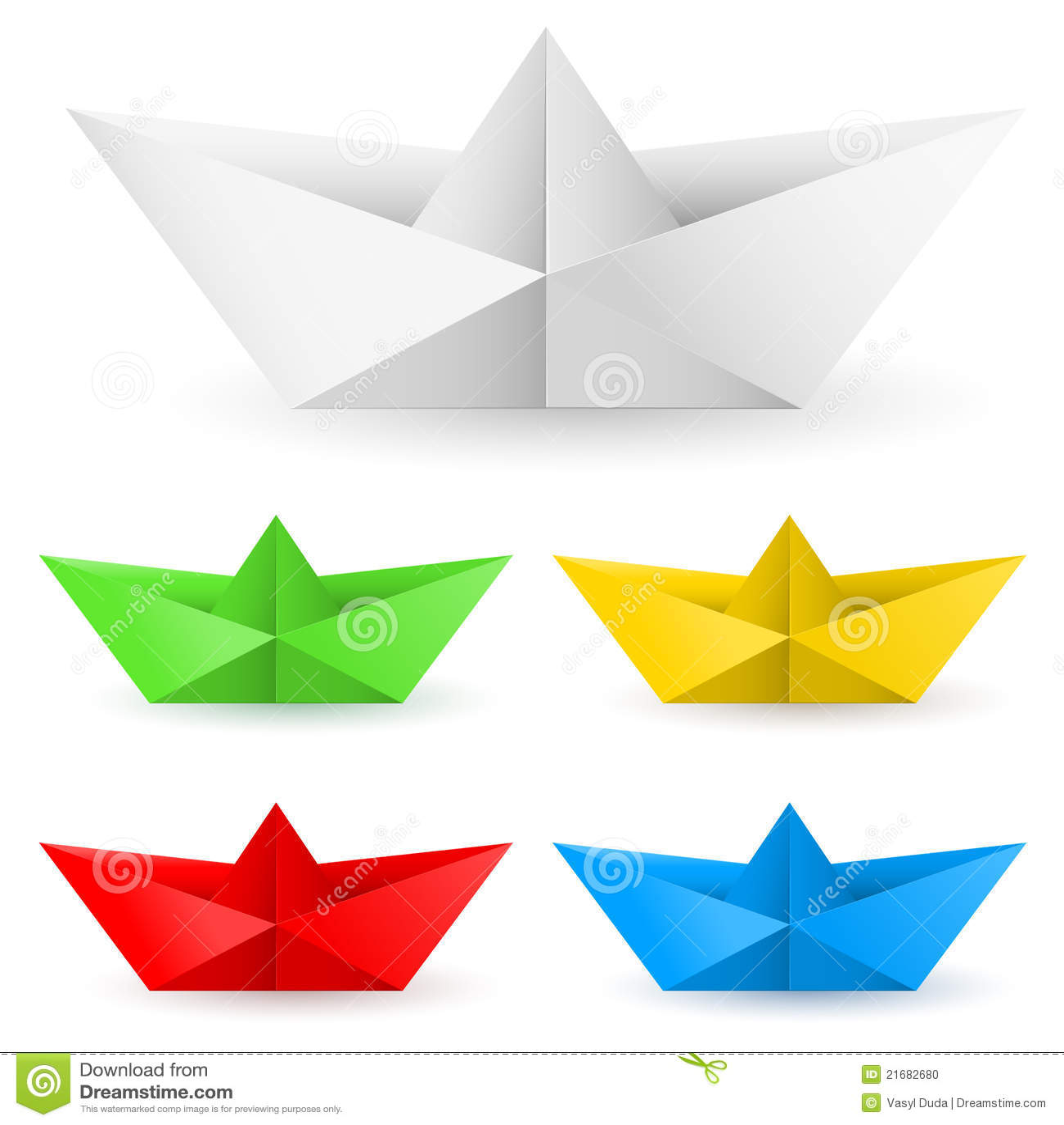 Het document van de origami boot