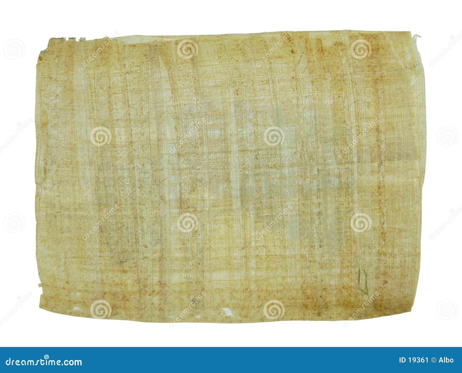 Het document van de papyrus