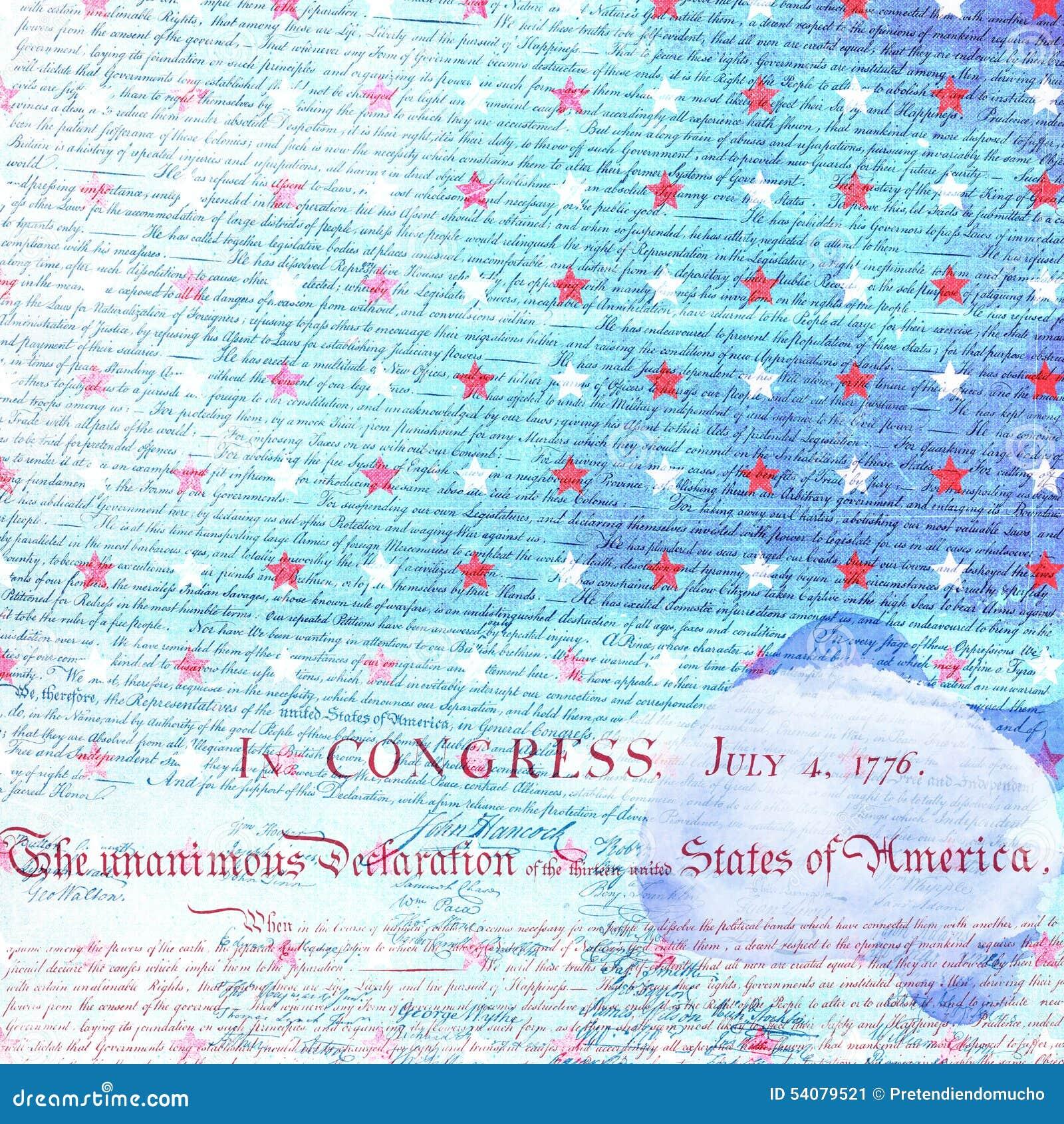 Het Document van het de Onafhankelijkheidsplakboek van de V.S.