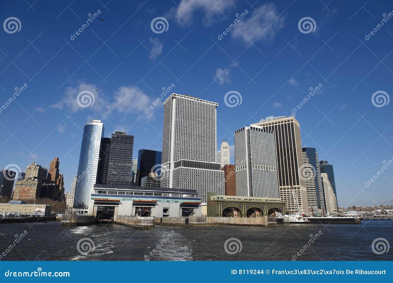 Het Dok van Manhattan, de Stad van New York