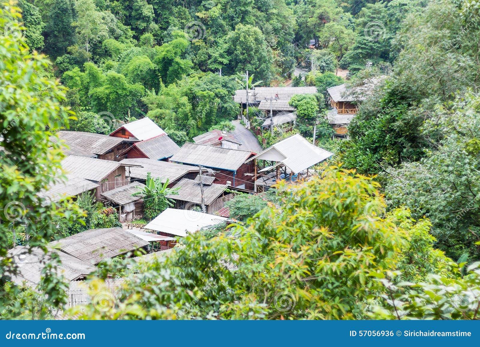 Het dorp in de bergen