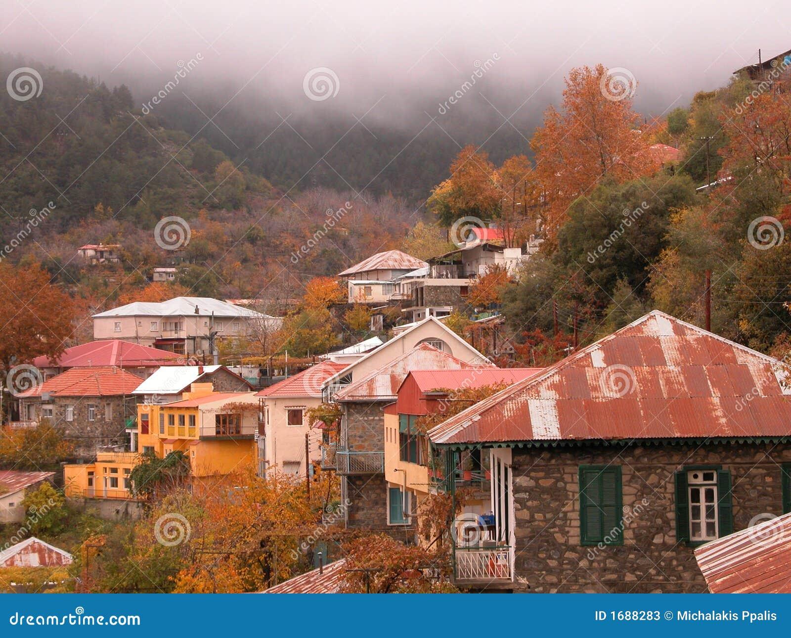 Het dorp van de berg