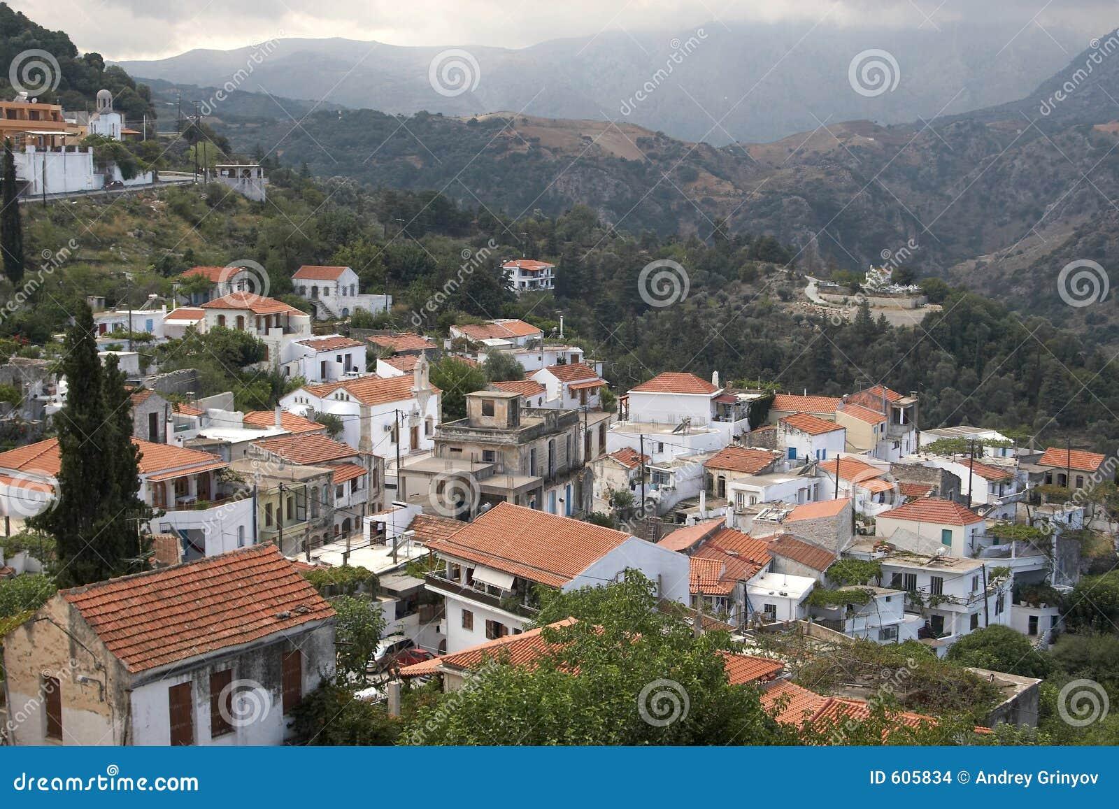Het dorp van de berg, Kreta, Griekenland