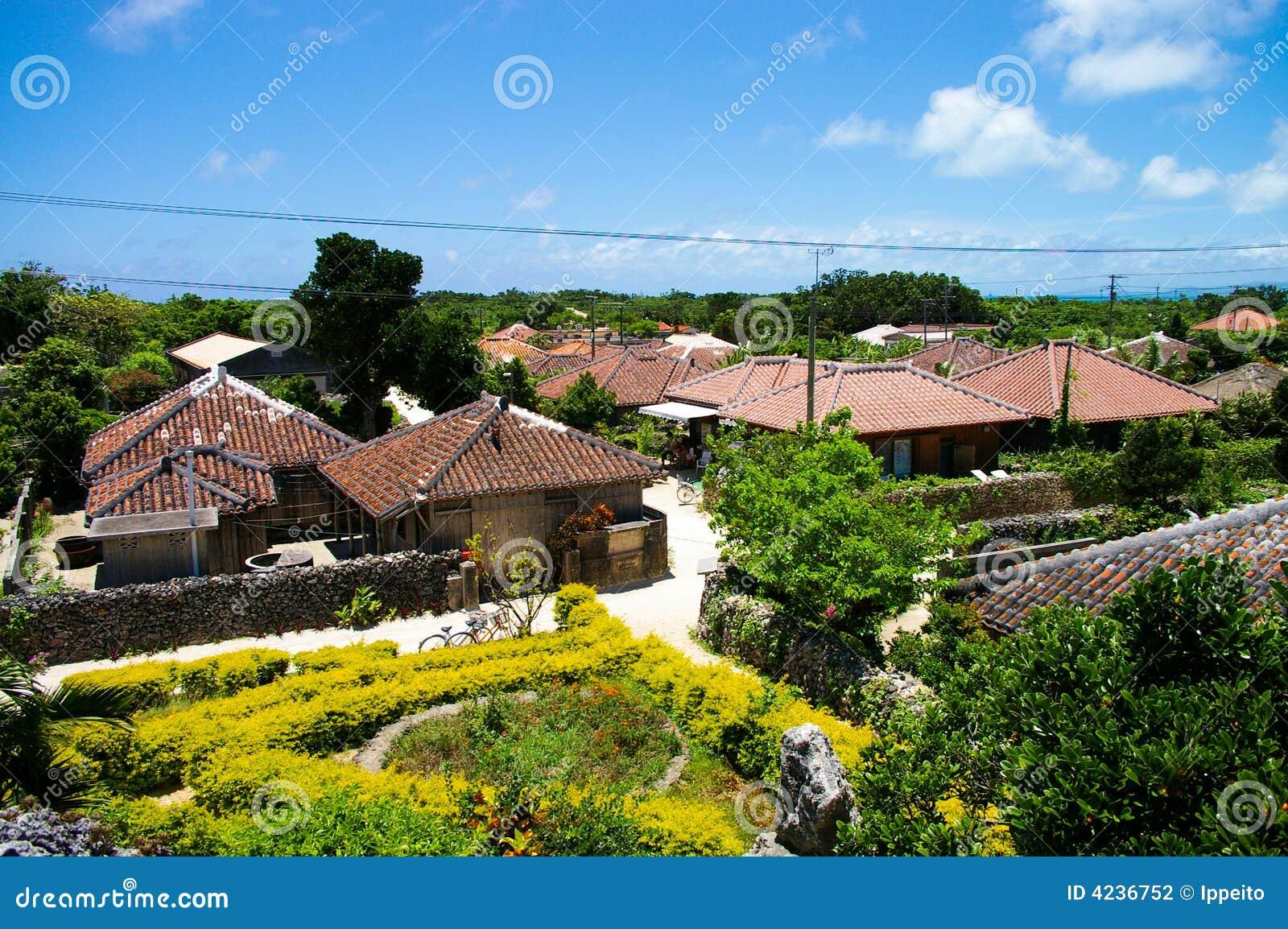 Het dorp van het eiland