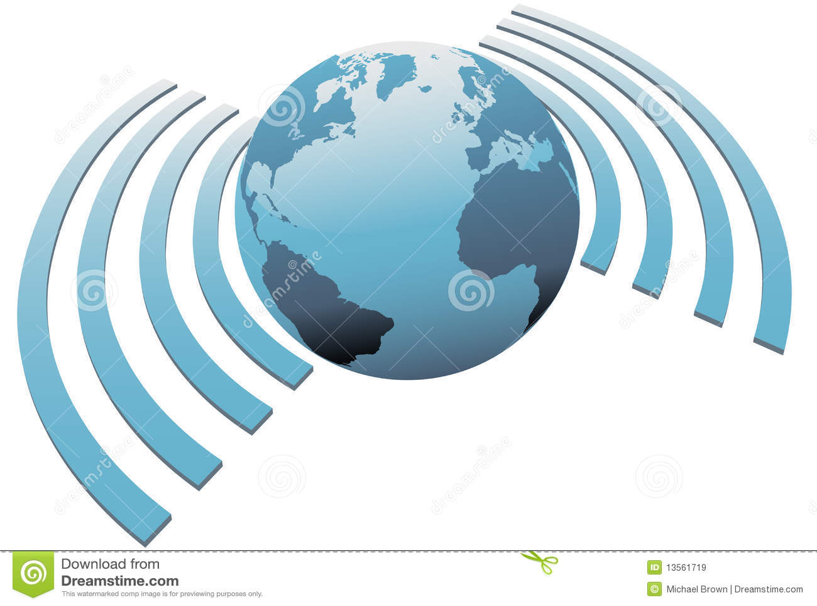 Het draadloze breedbandsymbool van de Aarde van wereldwifi