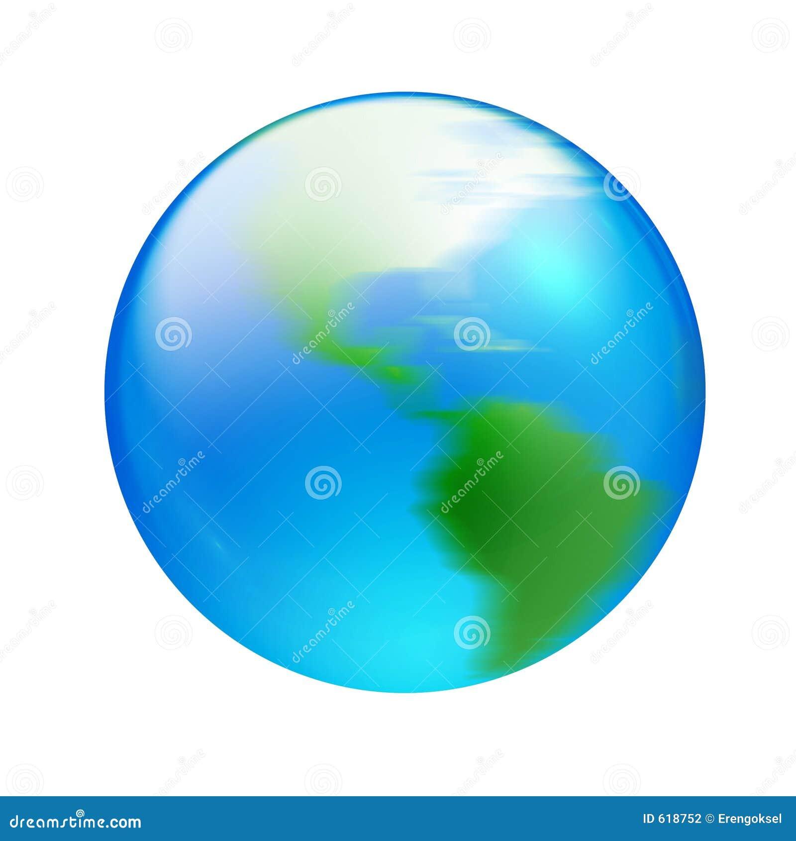 Het draaien van Aqua wereld