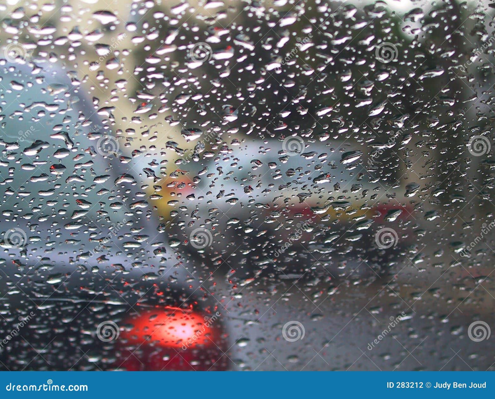 Het drijven in de regen