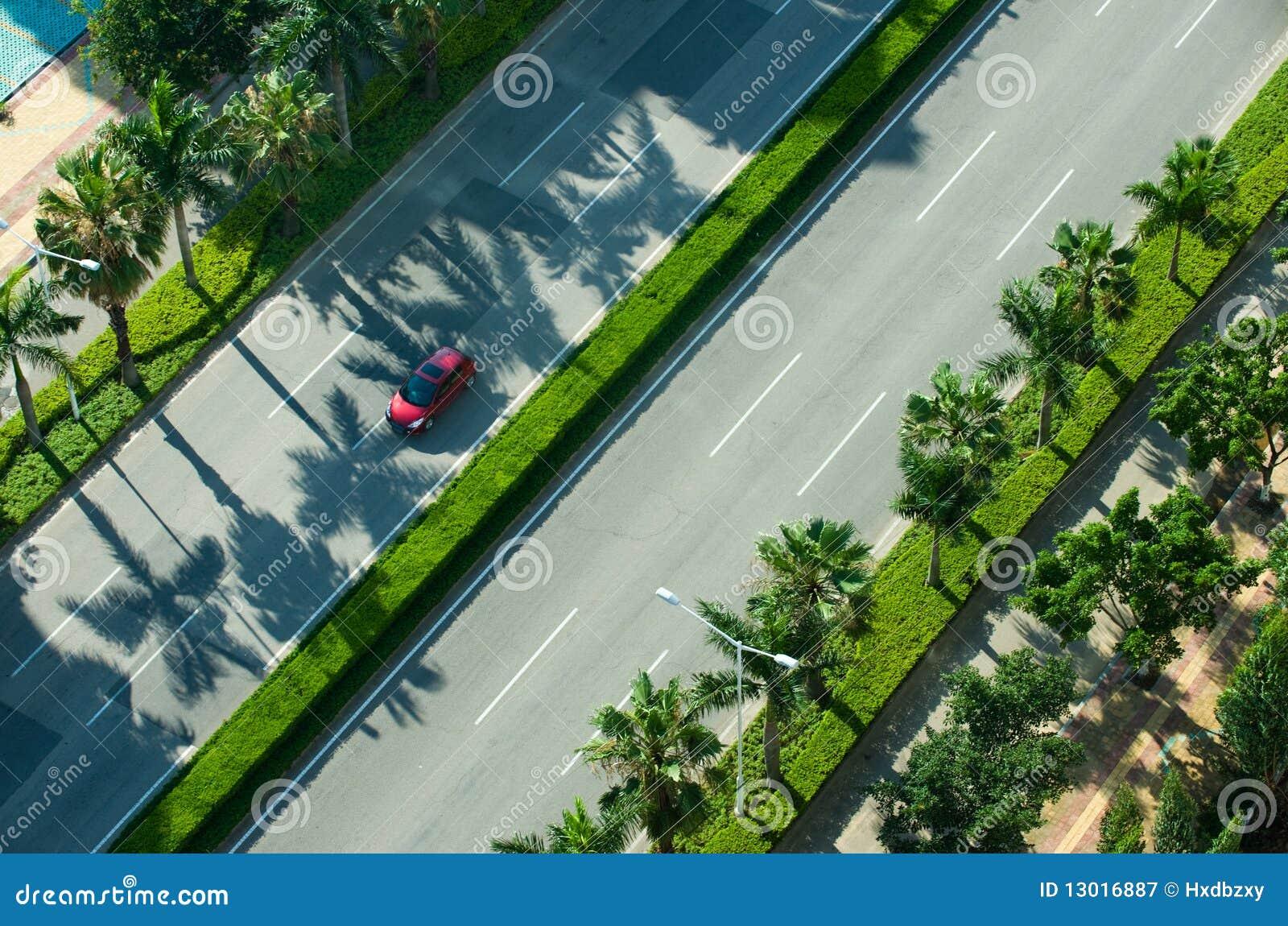 Het drijven op straatweg