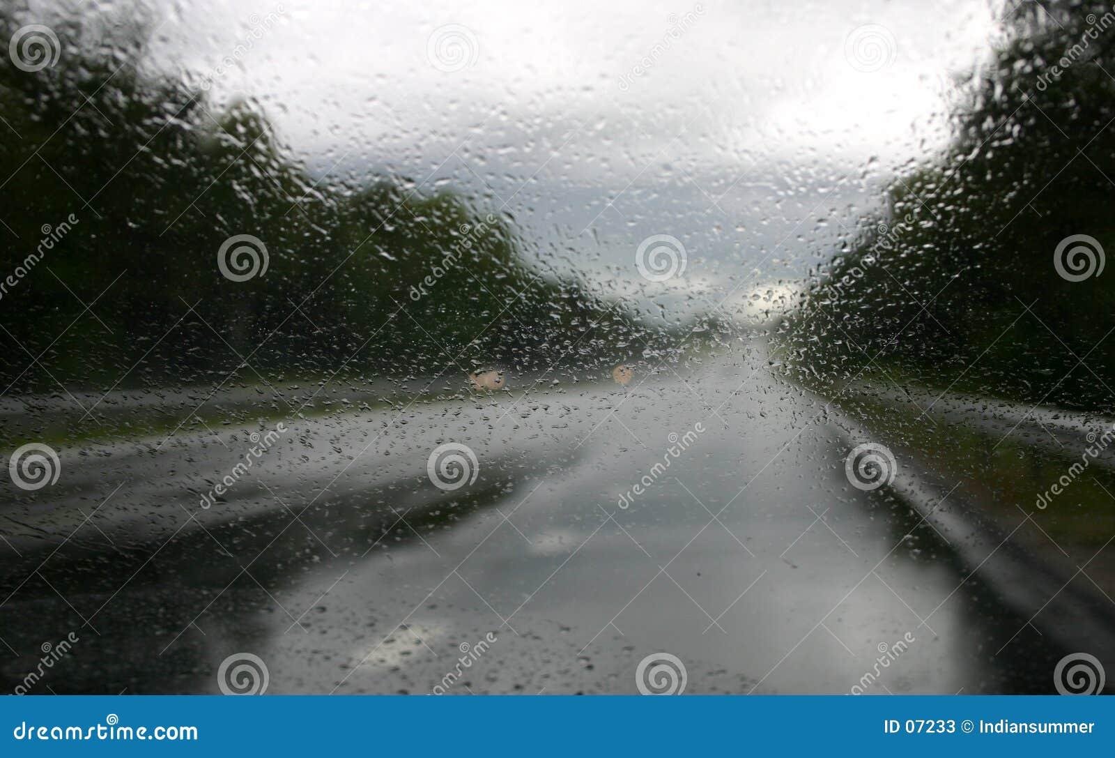 Het drijven in regen V
