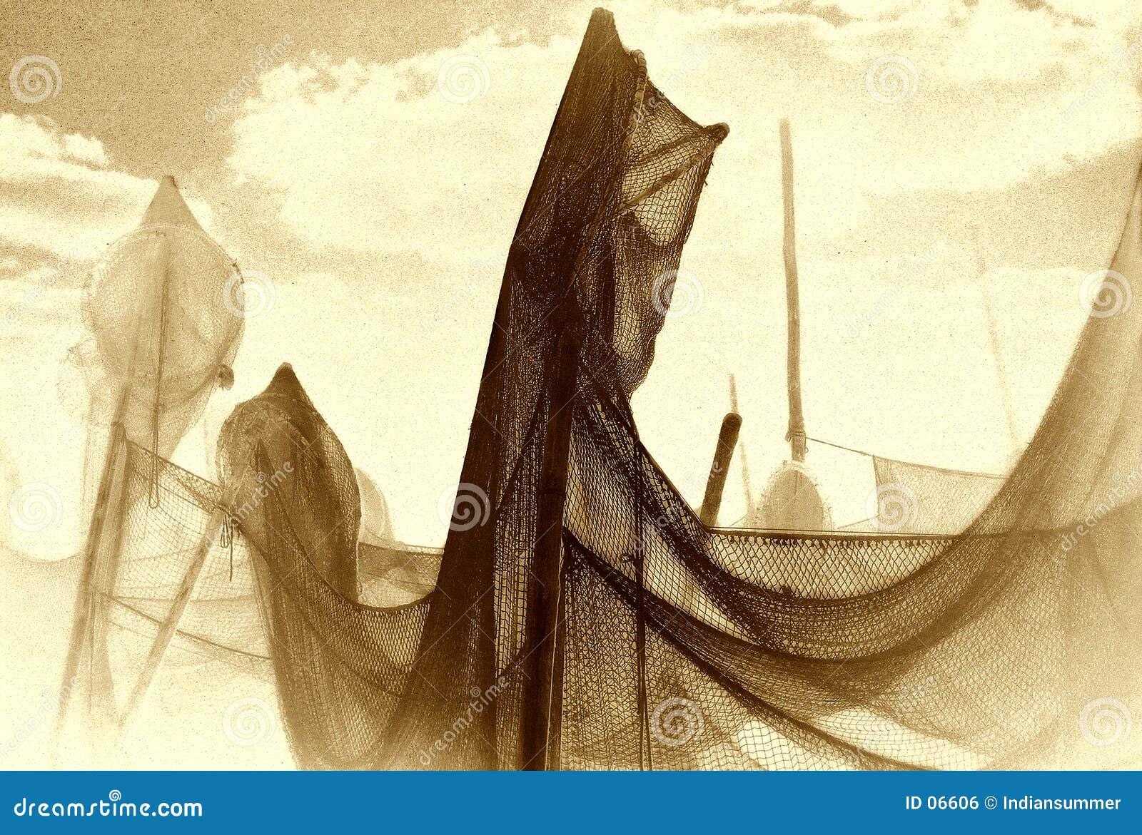 Het drogen van het net