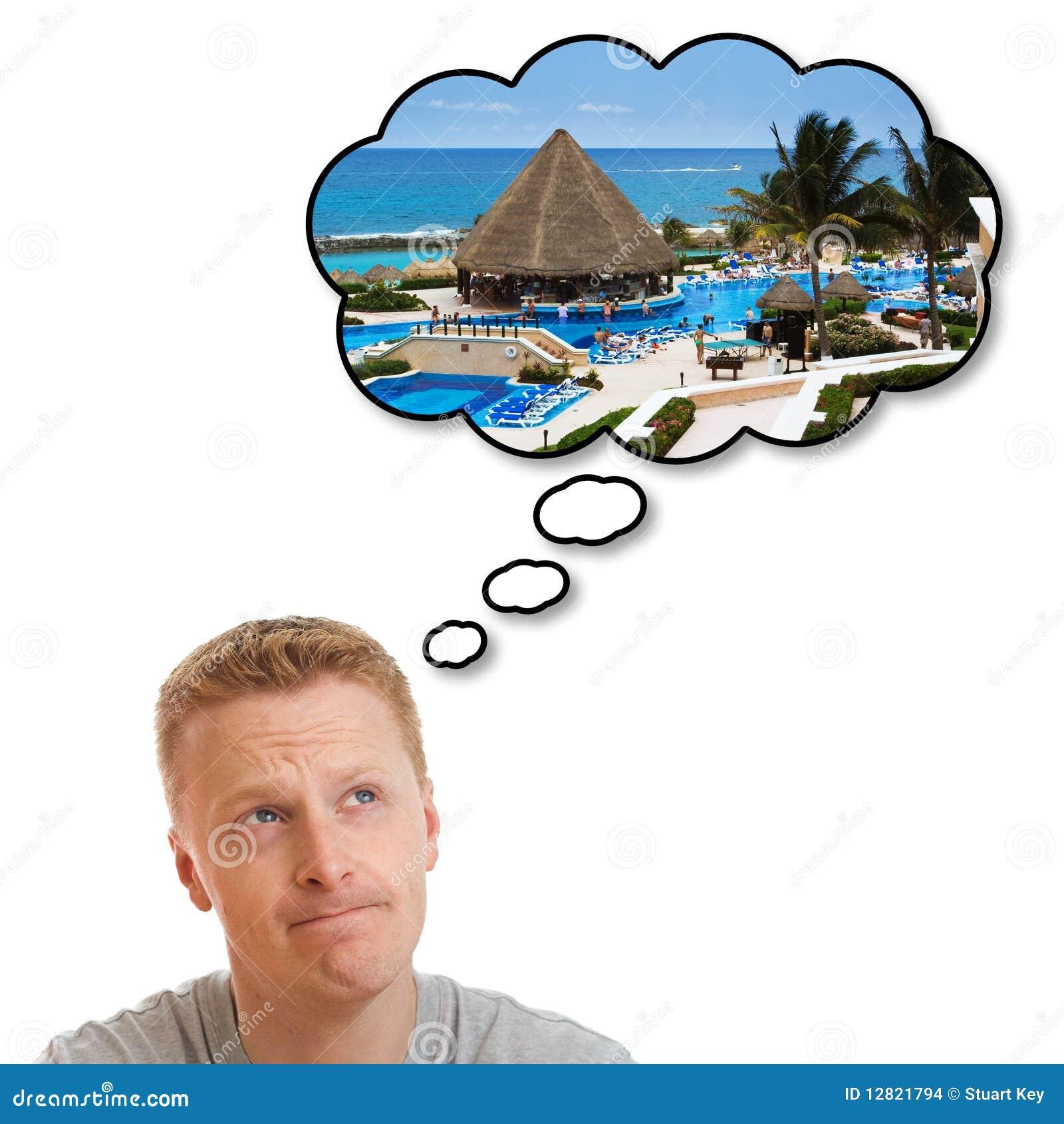 Het dromen over perfecte vakantievakantie