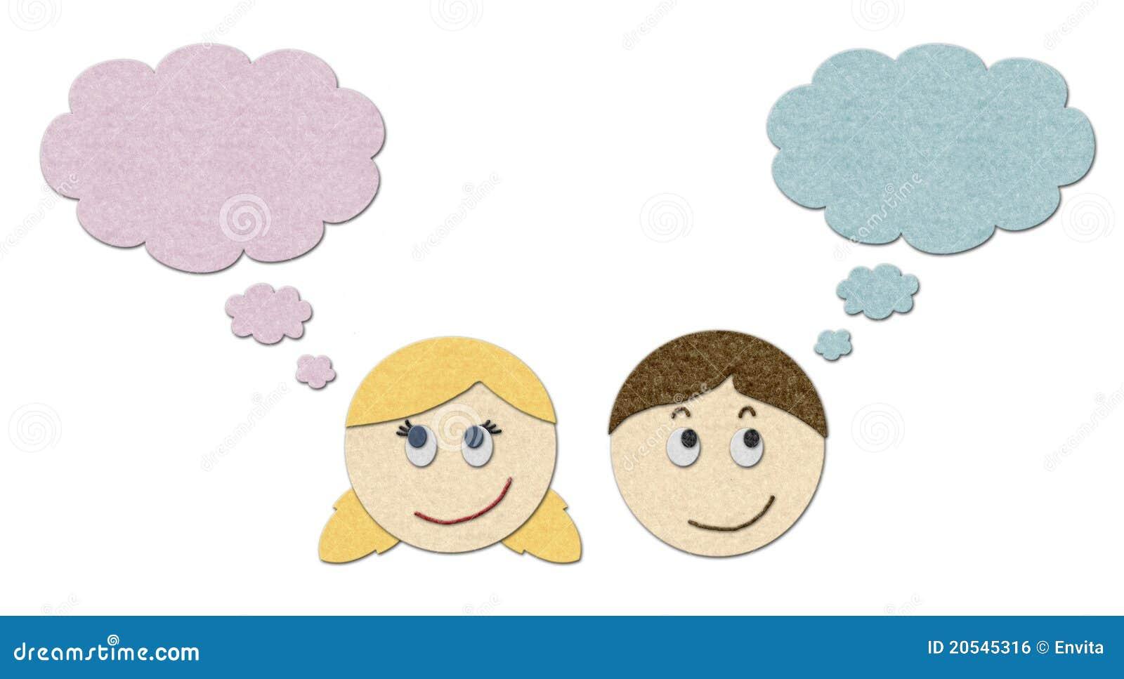 Het dromen van de jongen en van het meisje stock illustratie afbeelding 20545316 - Opslagkast ruimte van de jongen ...