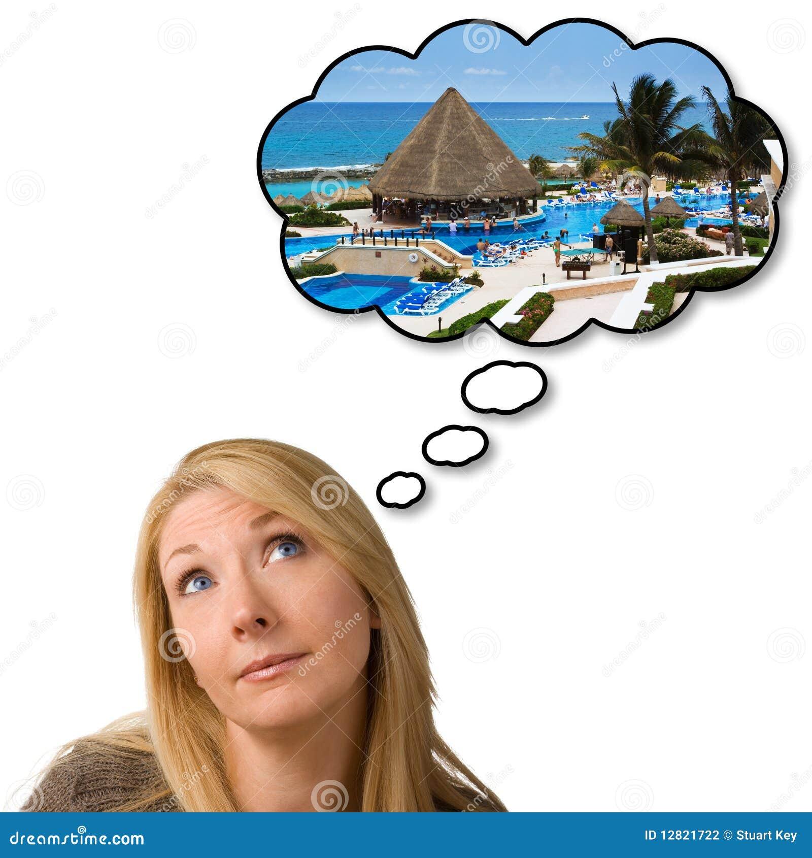 Het dromen van vakantievakantie