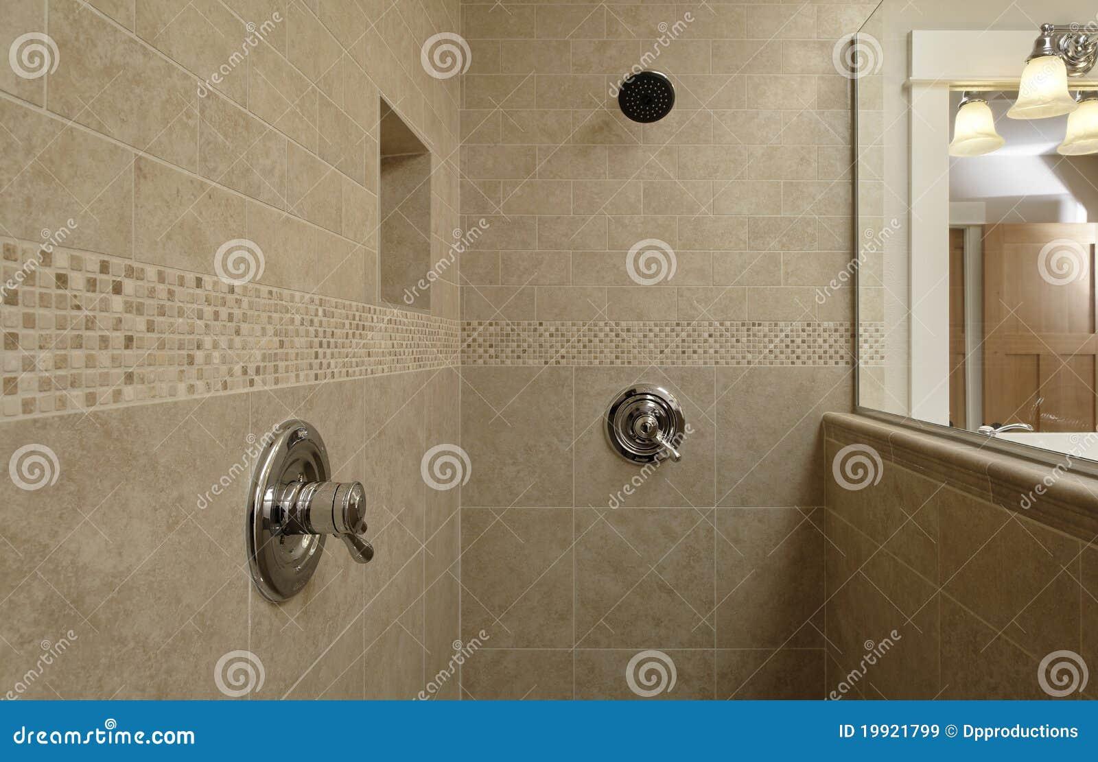 Het dubbele gebied van de douche van de controle royalty vrije stock afbeeldingen afbeelding - Douche italiaanse muur ...