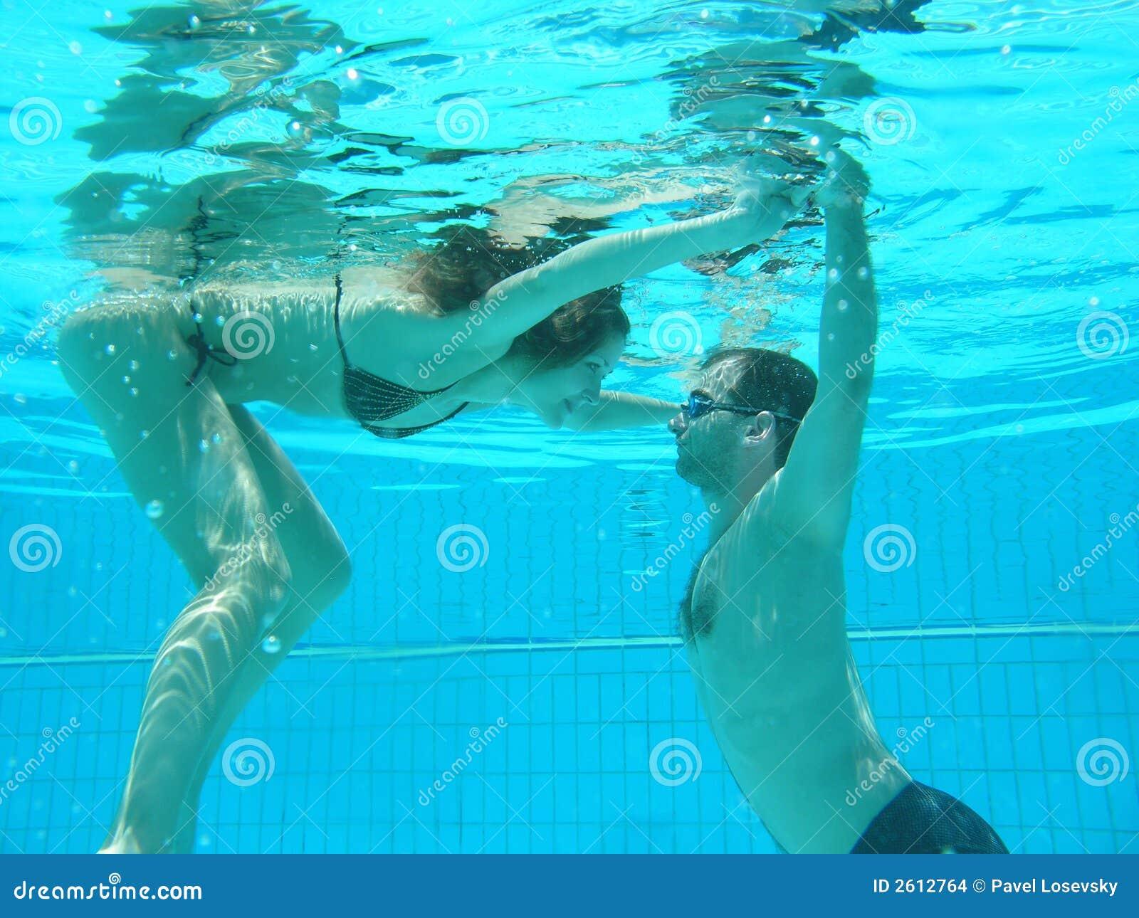 Het duiken in de pool