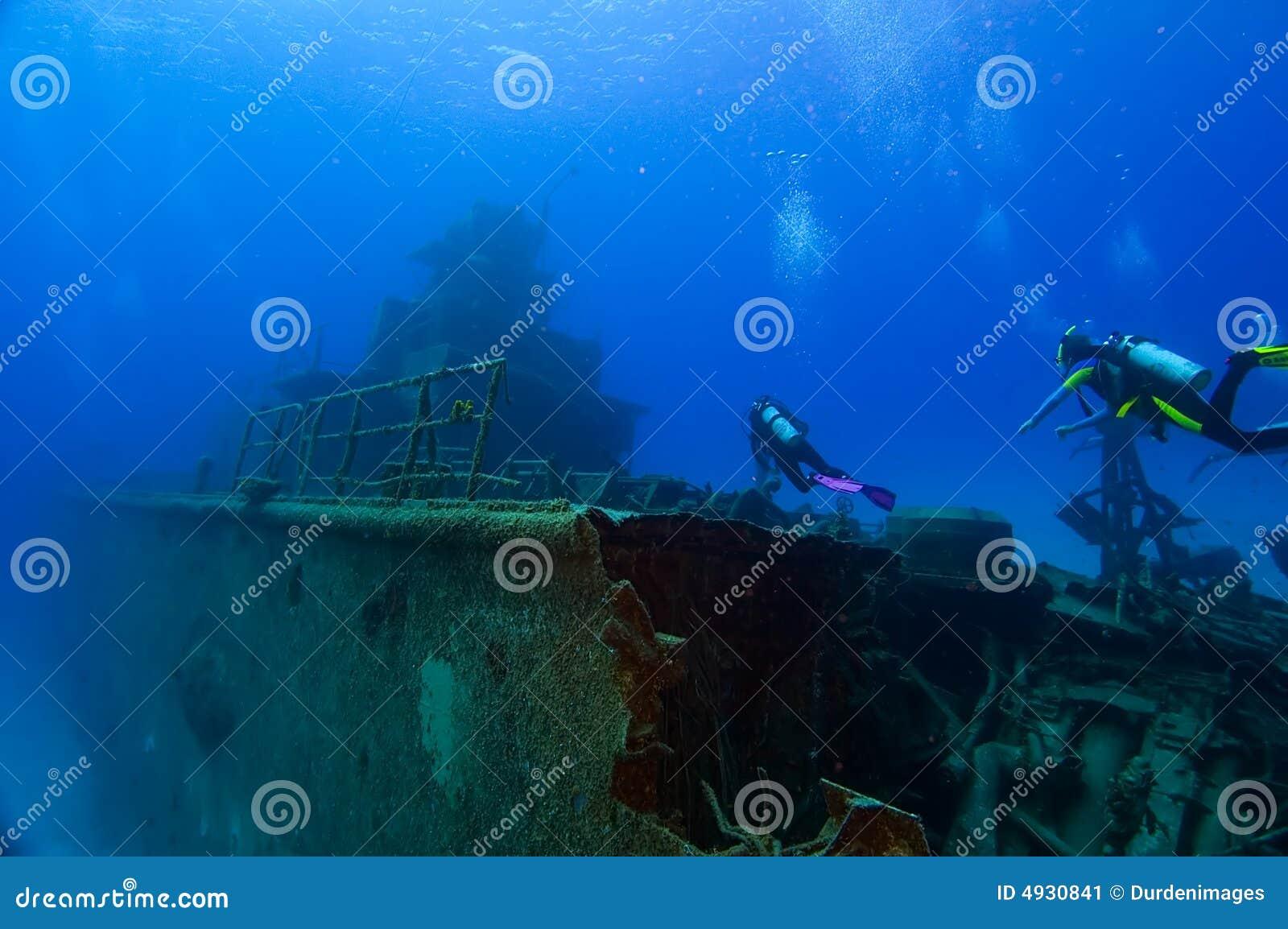 Het duiken op een wrak