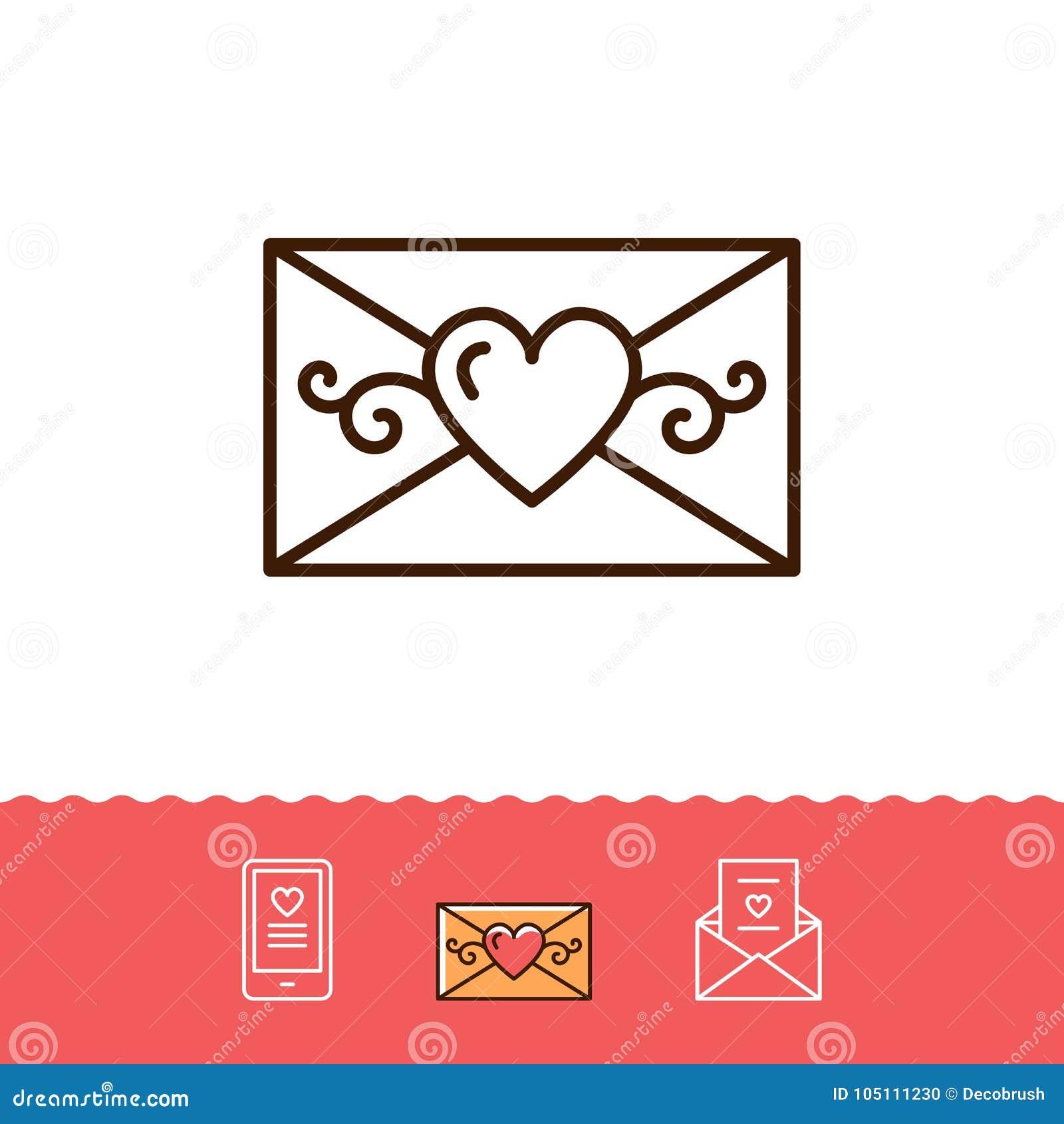 Het E Mailpictogram Telefoonteken Enveloplijn Verdunt