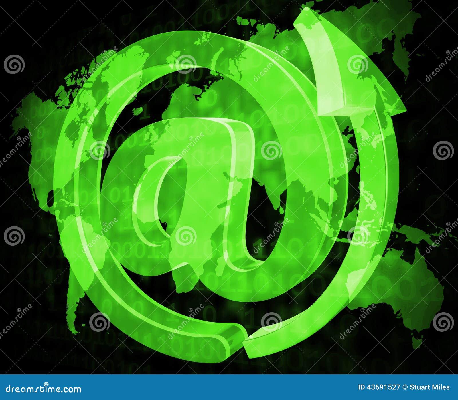 Het e-mailteken toont Bericht verzend en communiceer
