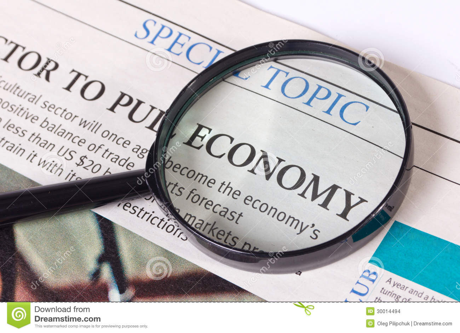 Het economische artikel van de krant