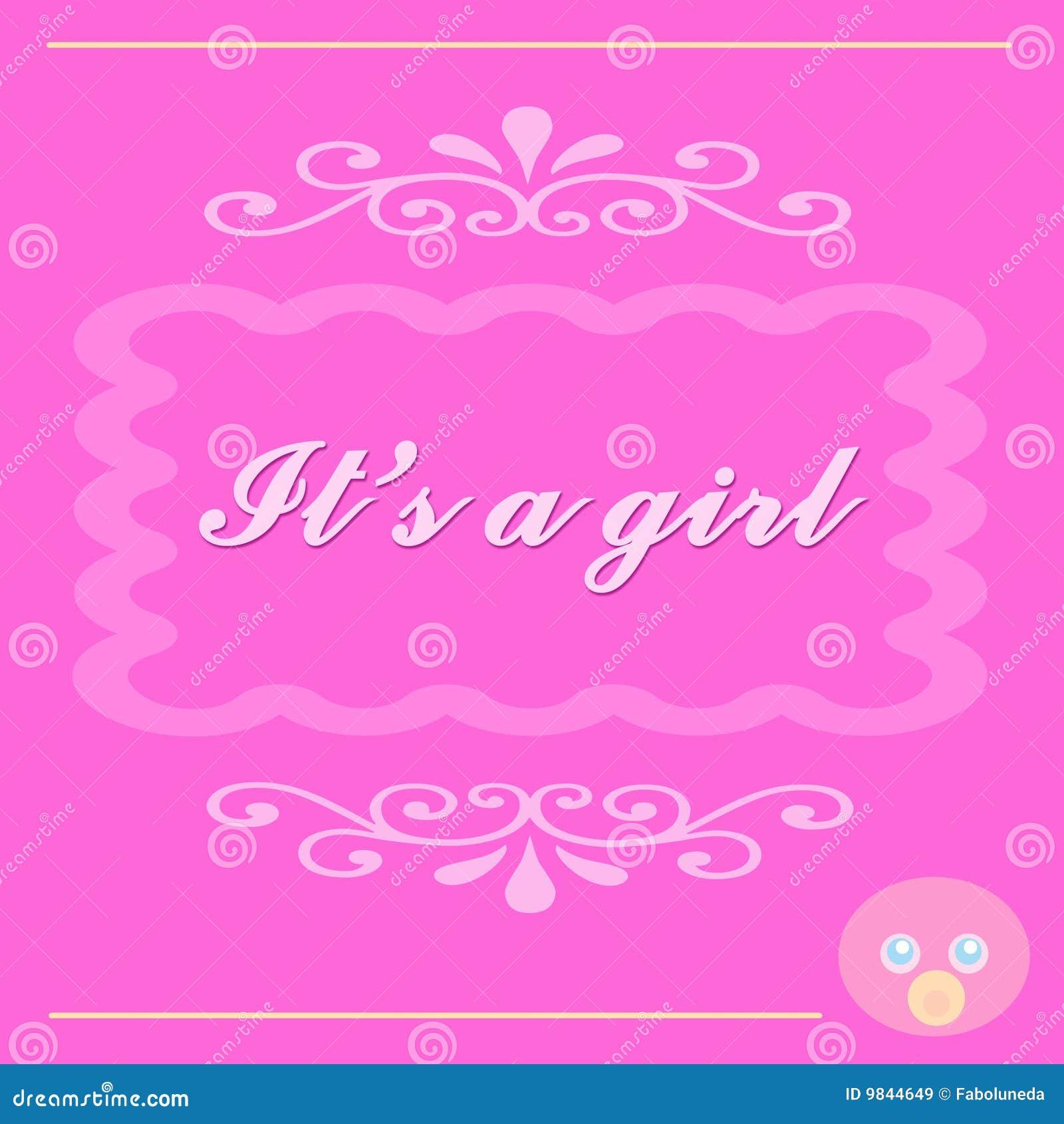 Het is een kaart van het meisje van de baby royalty vrije stock afbeeldingen afbeelding 9844649 - Beeld het meisje van ...