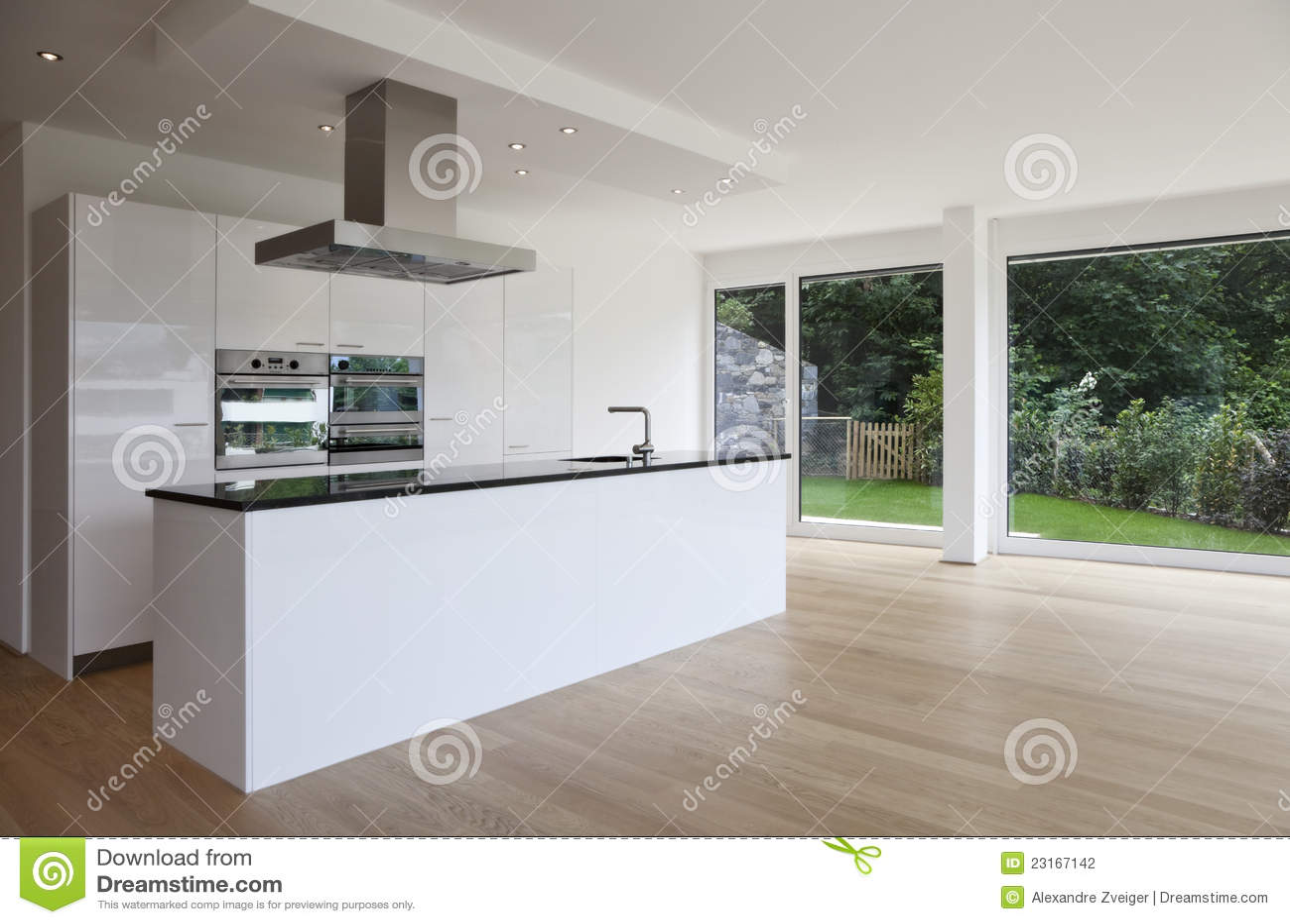 Het eiland van de keuken houten vloer stock foto afbeelding 23167142 - Meubilair outdoor houten keuken ...