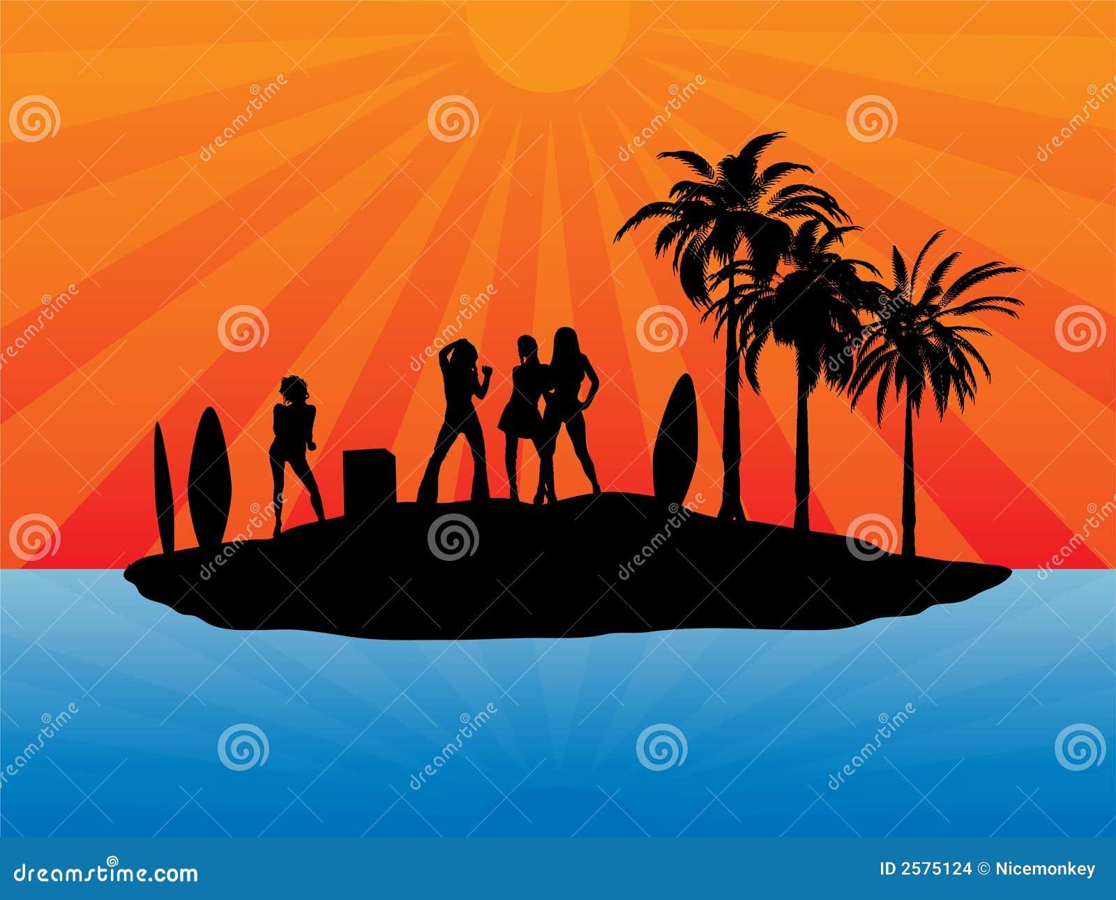 Het eiland van de vakantie