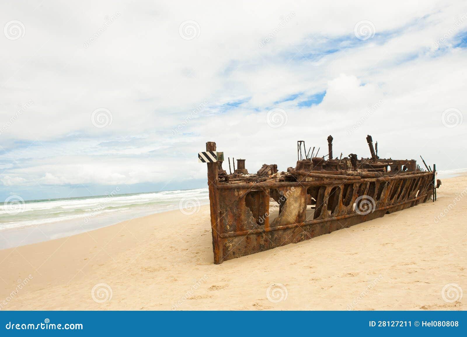 Het Eiland van Fraser van de schipbreuk van Maheno