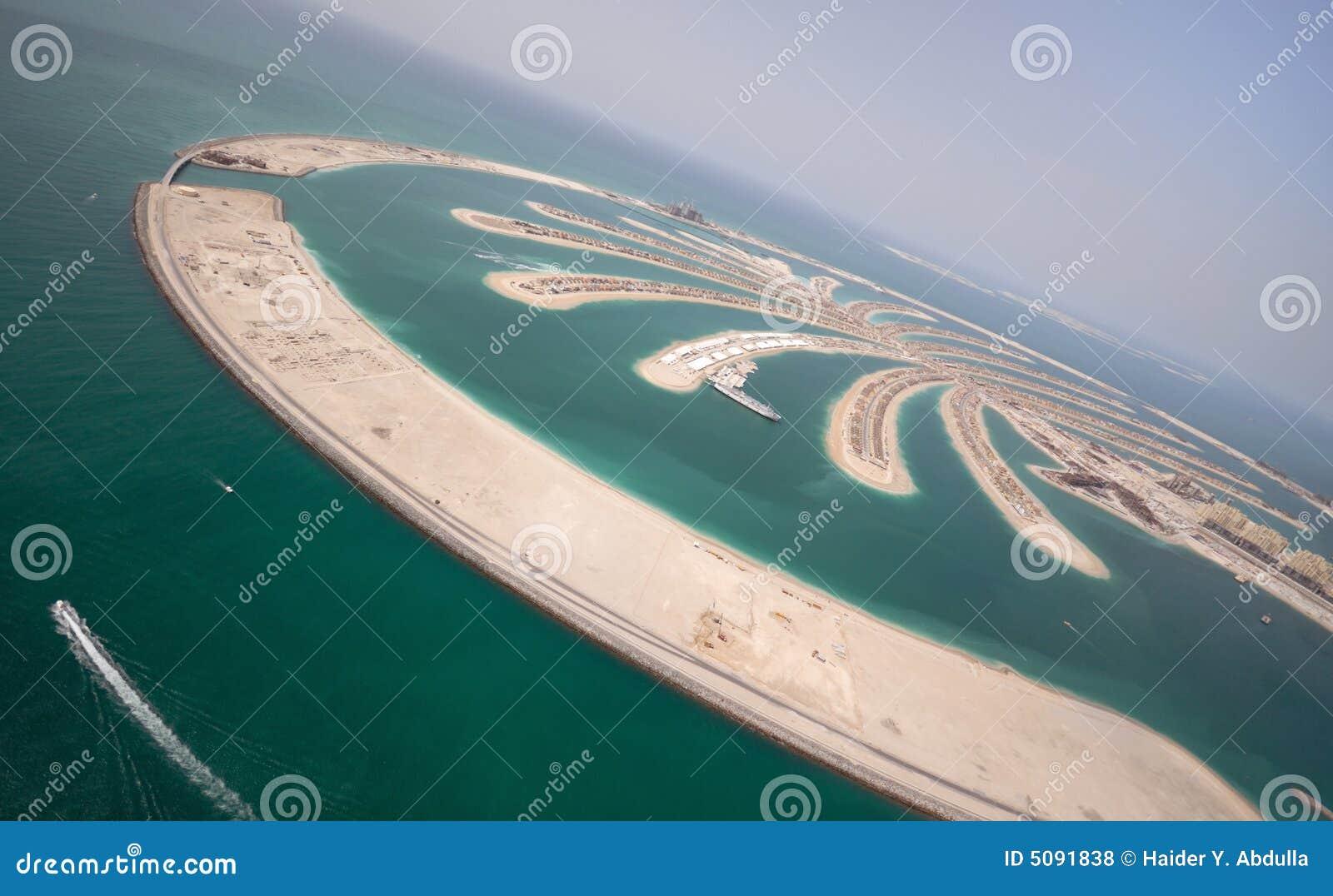 Het Eiland van Jumeirah van de palm