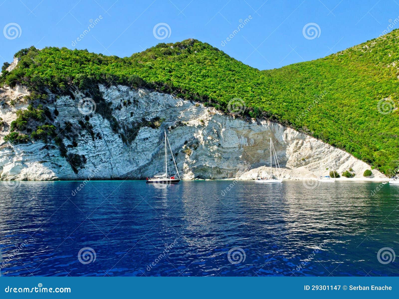 Het eilandkustlijn van Atokos