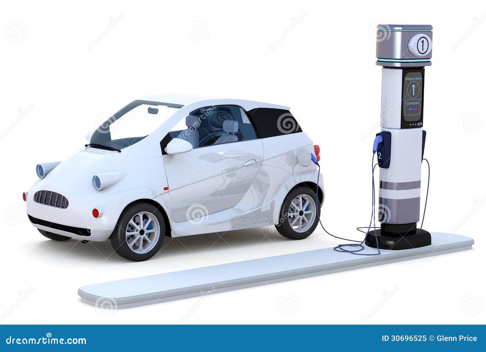 het elektrische auto laden stock illustratie afbeelding bestaande uit klein 30696525. Black Bedroom Furniture Sets. Home Design Ideas