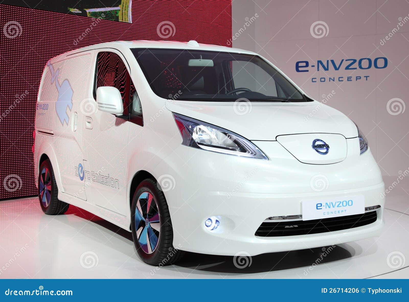 Het Elektrische Concept Van Nissan E Nv200 Redactionele Foto