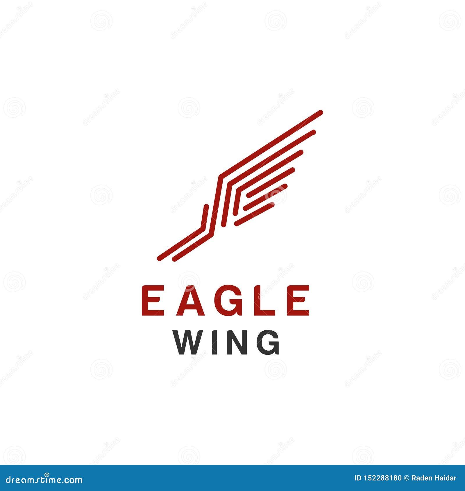 Het embleem of de havik van Eagle, vogel, het symbool van Phoenix en de stijl van de pictogramluxe