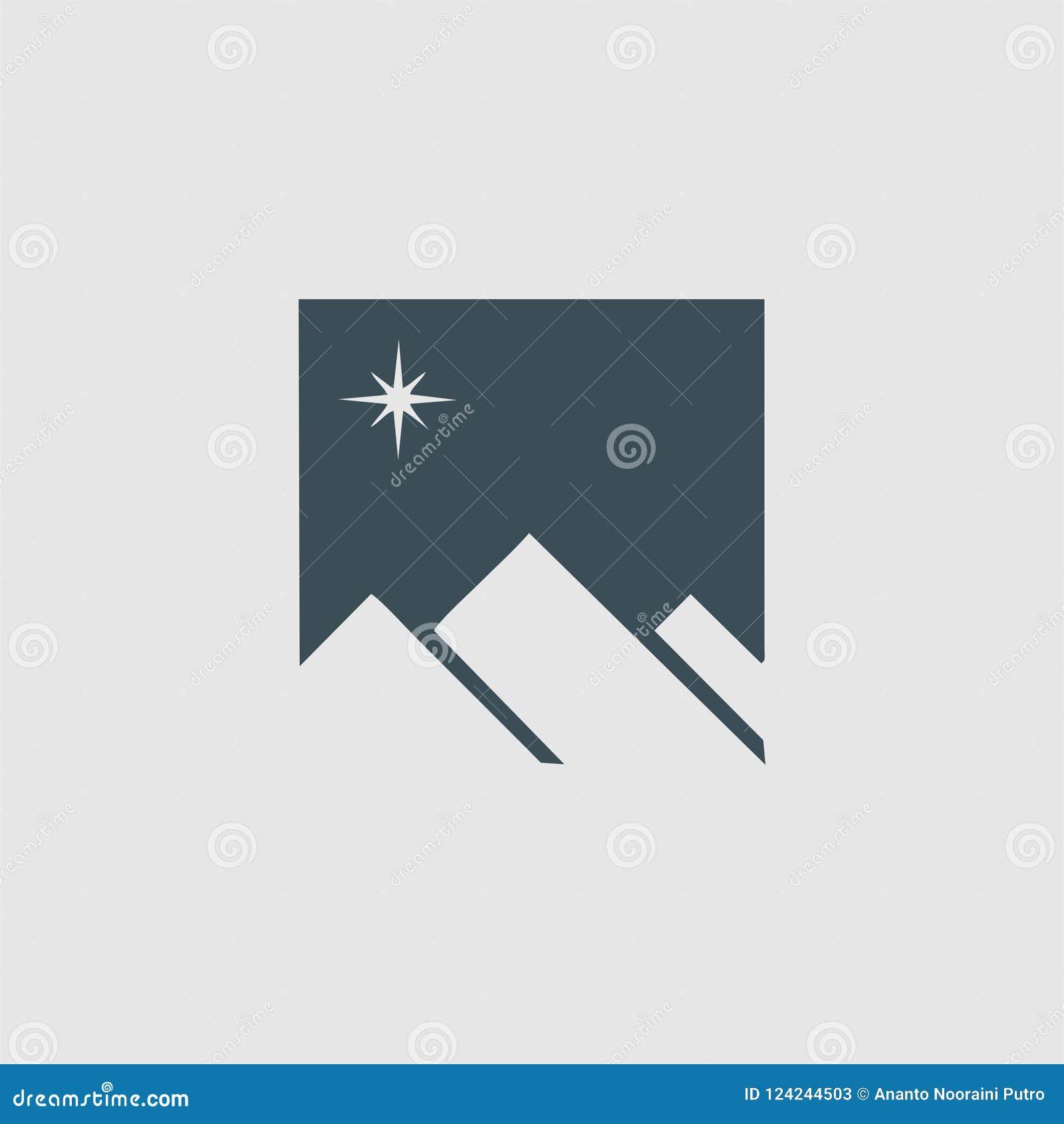 Het embleem van het bergmonogram