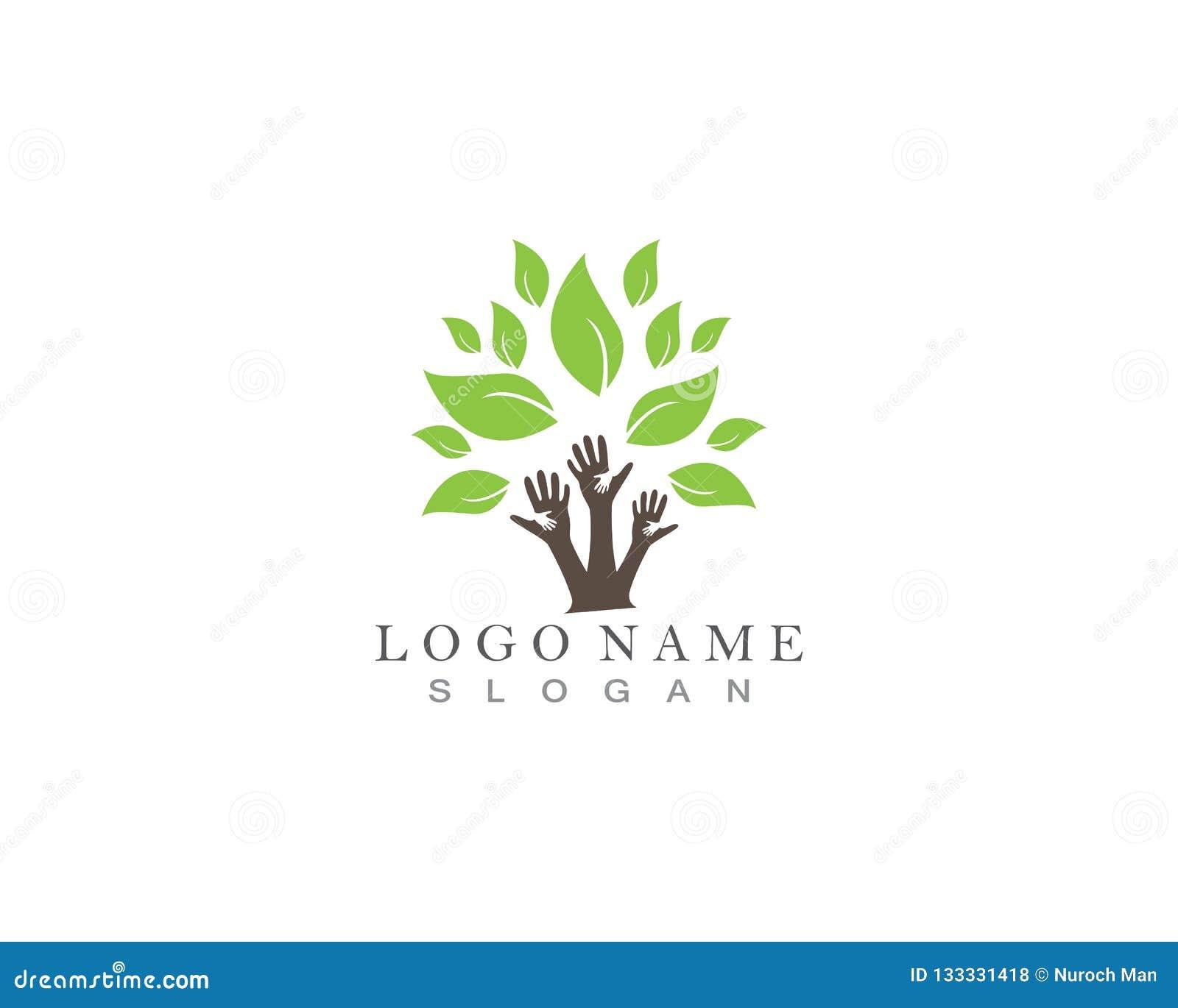 Het embleem van boomhanden