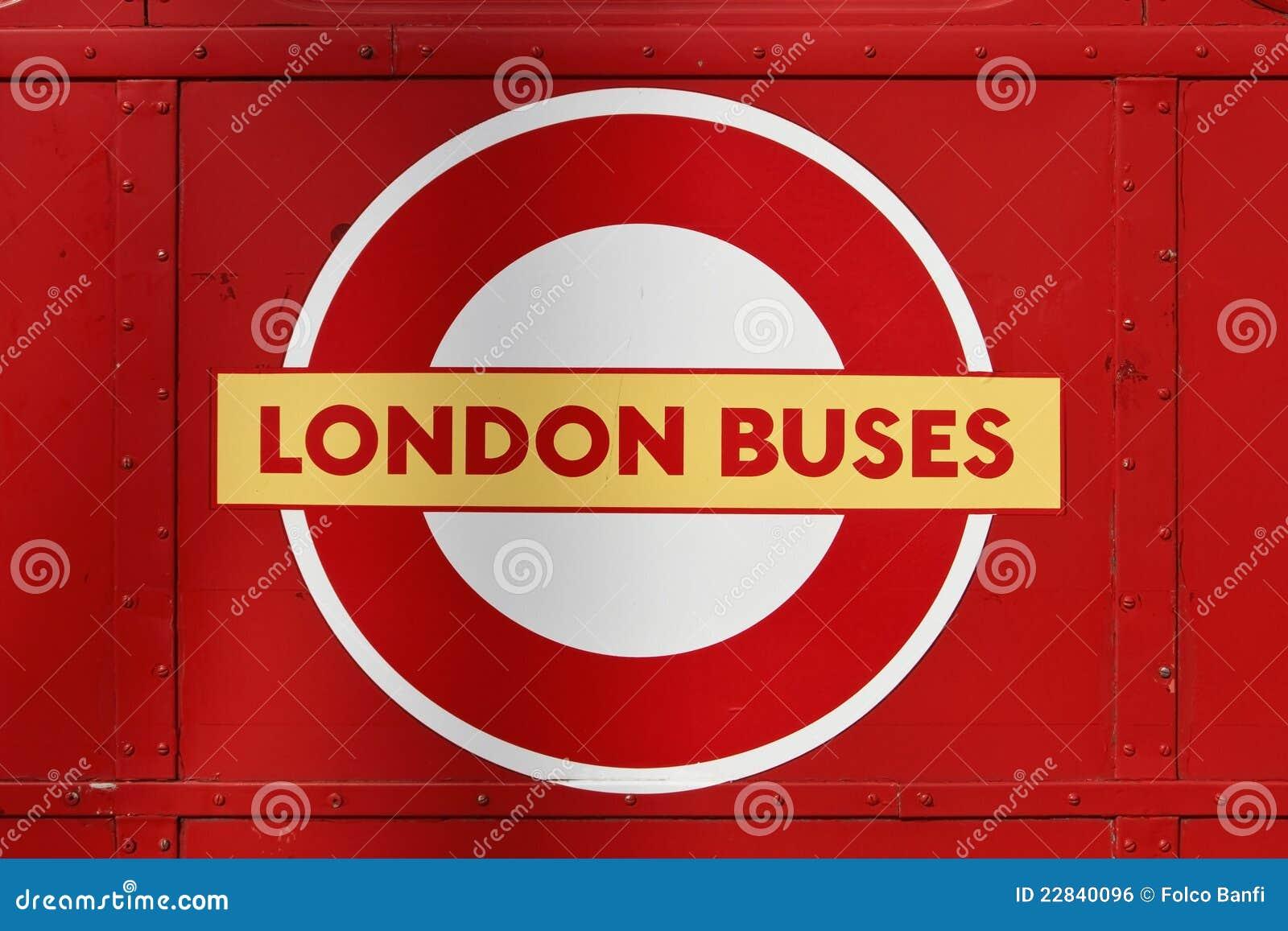 Het Embleem van de Bussen van Londen