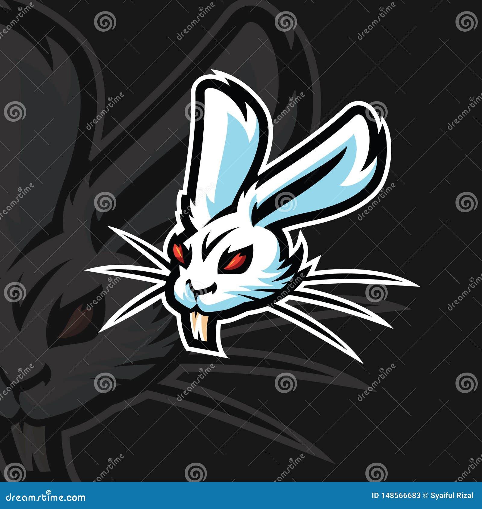 Het embleem van de konijne sport