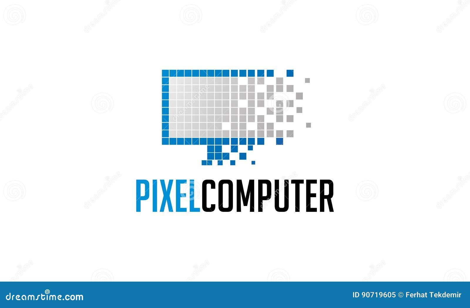 Het Embleem van de pixelcomputer