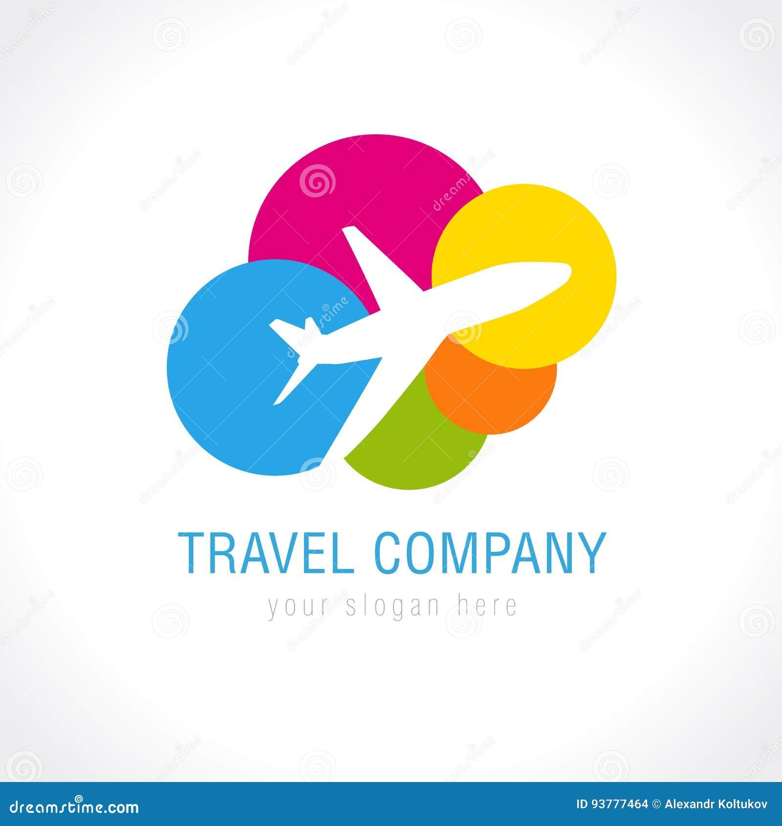 Het embleem van het reisbedrijf