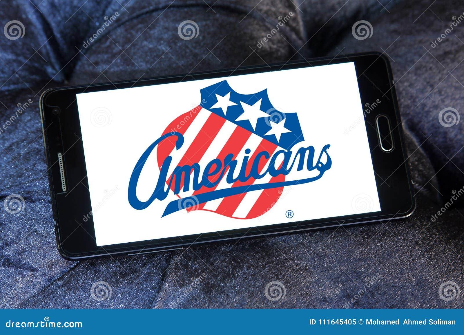 Het embleem van het het ijshockeyteam van Rochester Amerikanen