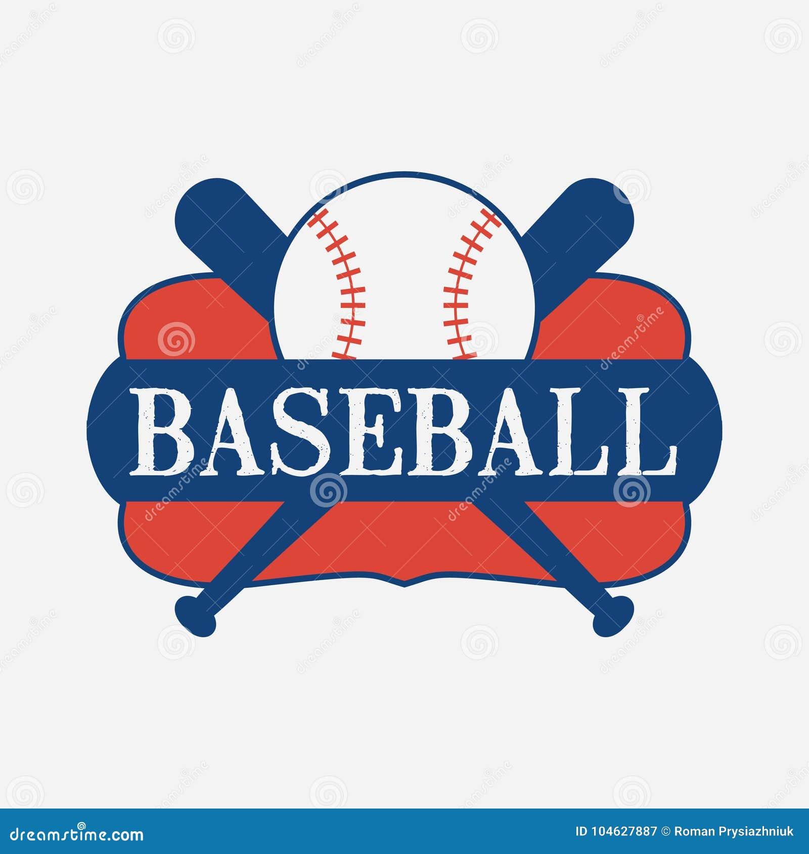 Download Het Embleemontwerp Van De Honkbalsport Met Knuppel En Bal Vector Illustratie Vector Illustratie - Illustratie bestaande uit dubbel, kampioenschap: 104627887
