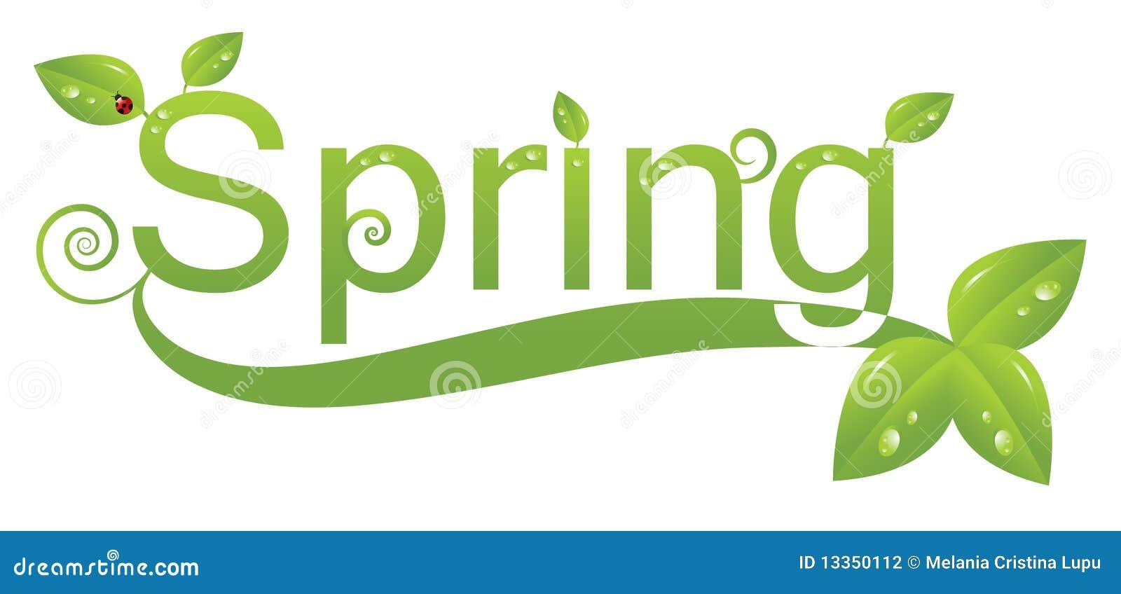 Het embleemontwerp van de lente