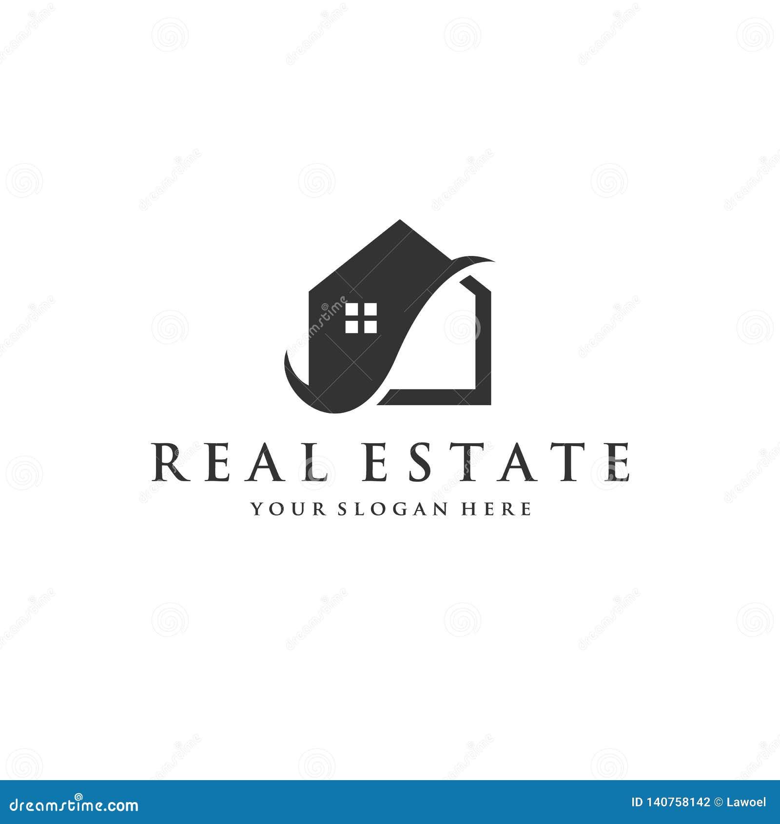 Het embleemontwerpen van het huispictogram