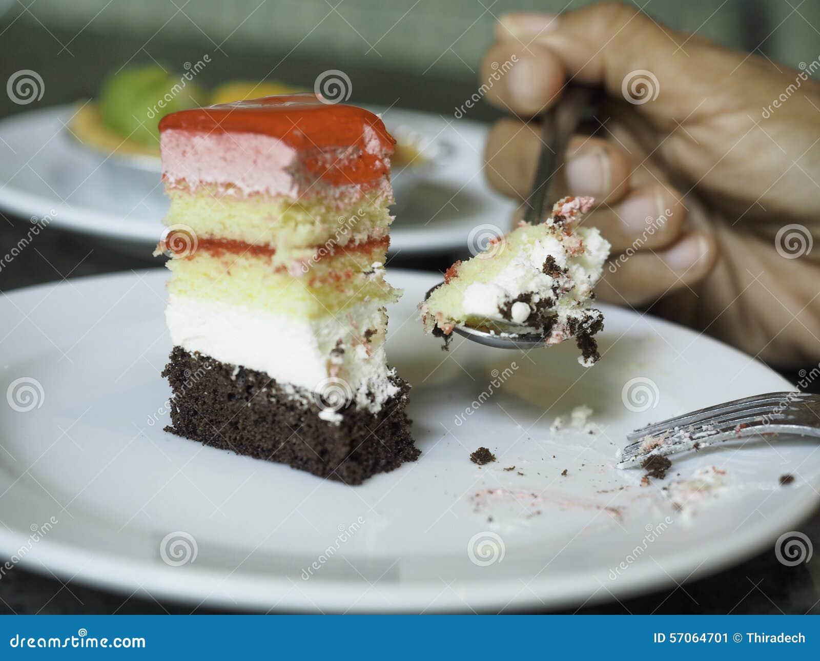 Het eten van cake