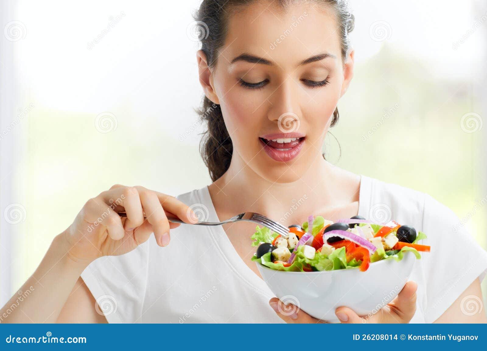 Het eten van gezond voedsel