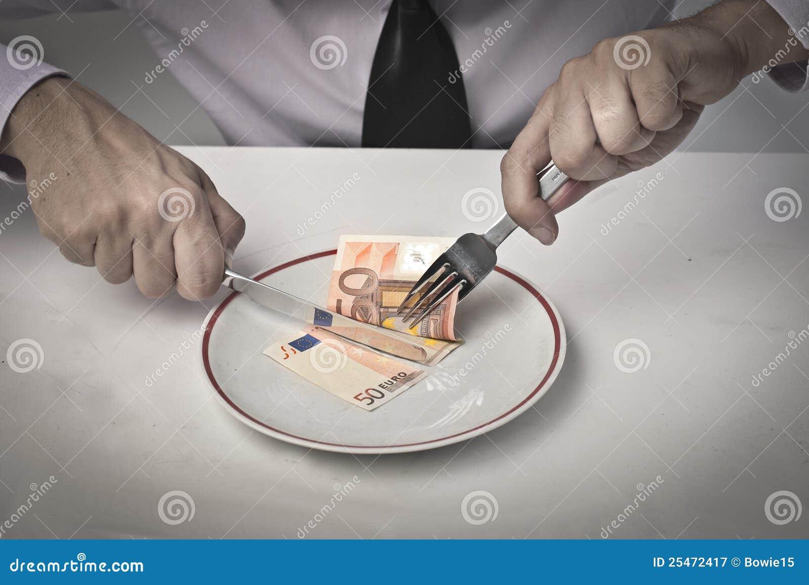 Het eten van Inkomens