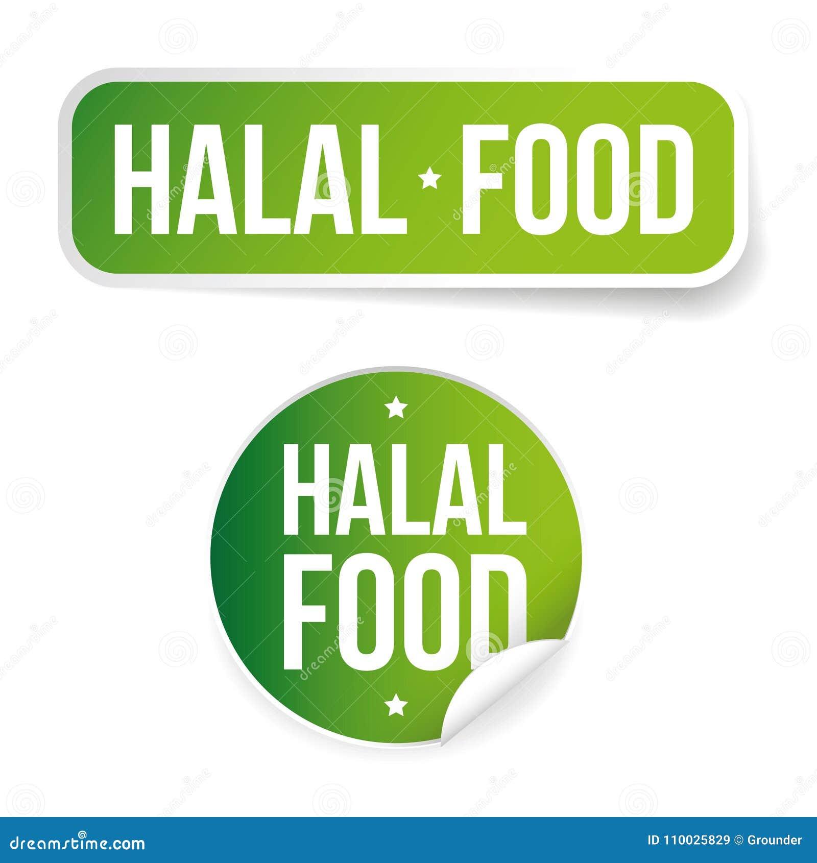 Het etiketteken van het Halalvoedsel