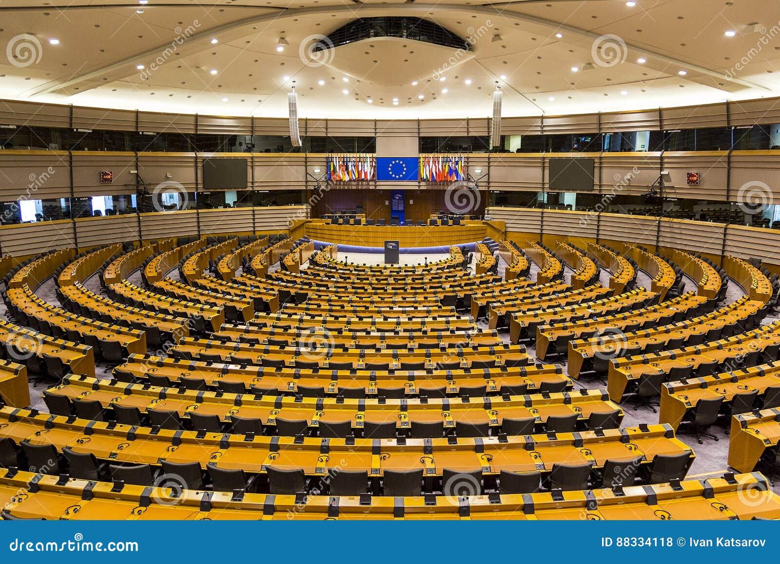 Het Europees Parlement van vlaggenbrexit Europese Unie Brussel België