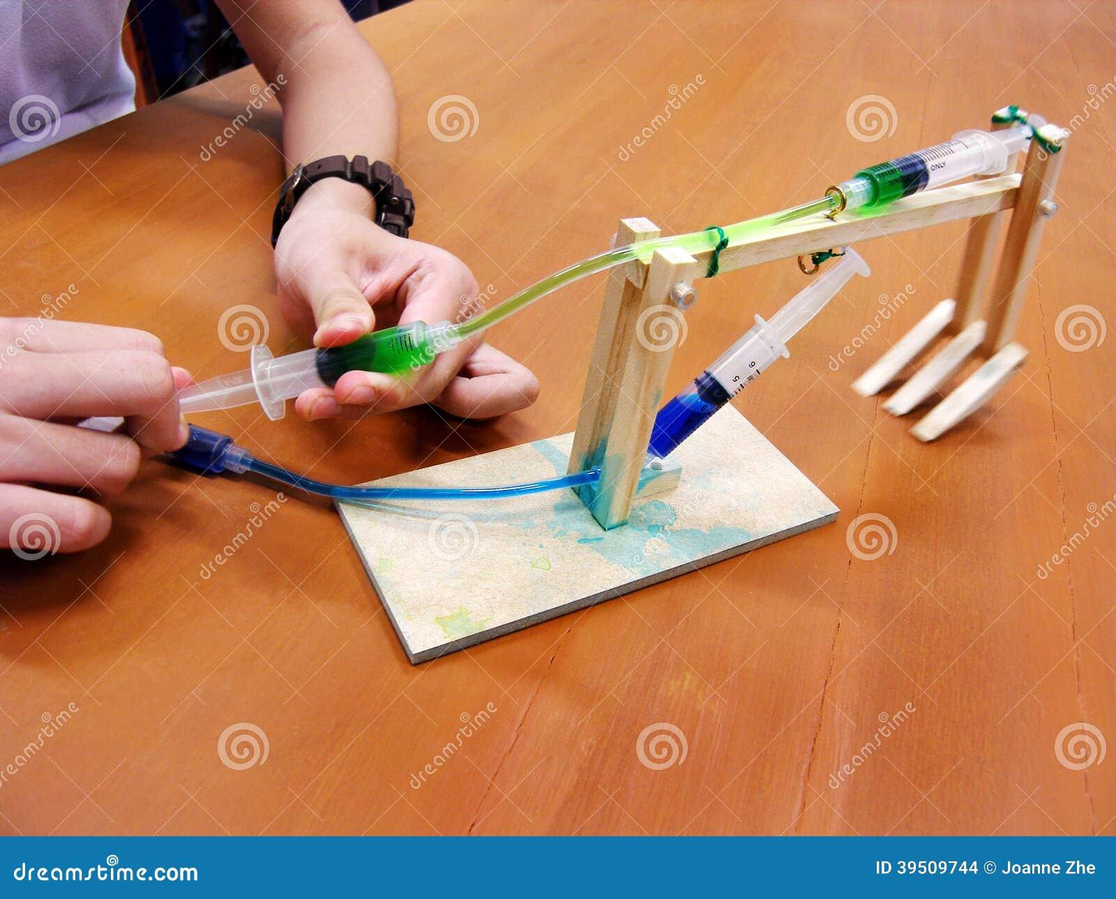 Het experiment van de hydraulicafysica